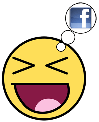 Facebook has started replacing text smileys with graphical smileys aka emoticons